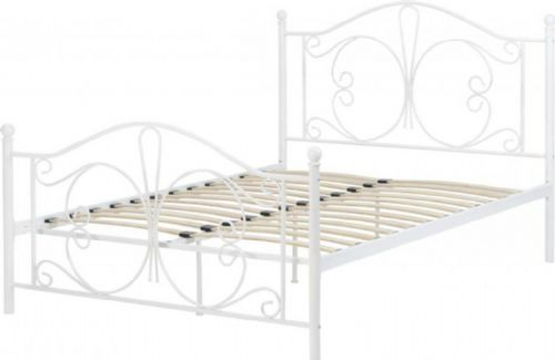 Hailey White Double Bed